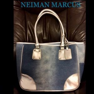 NEIMAN MARCUS Denim handbag